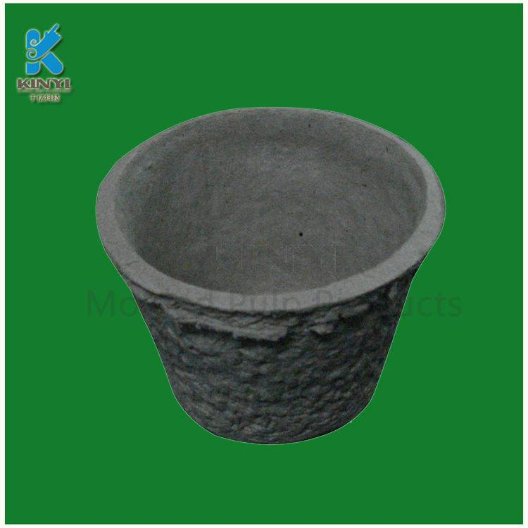 Biodegradable flower pots, nursery pots, recycled paper pulp made