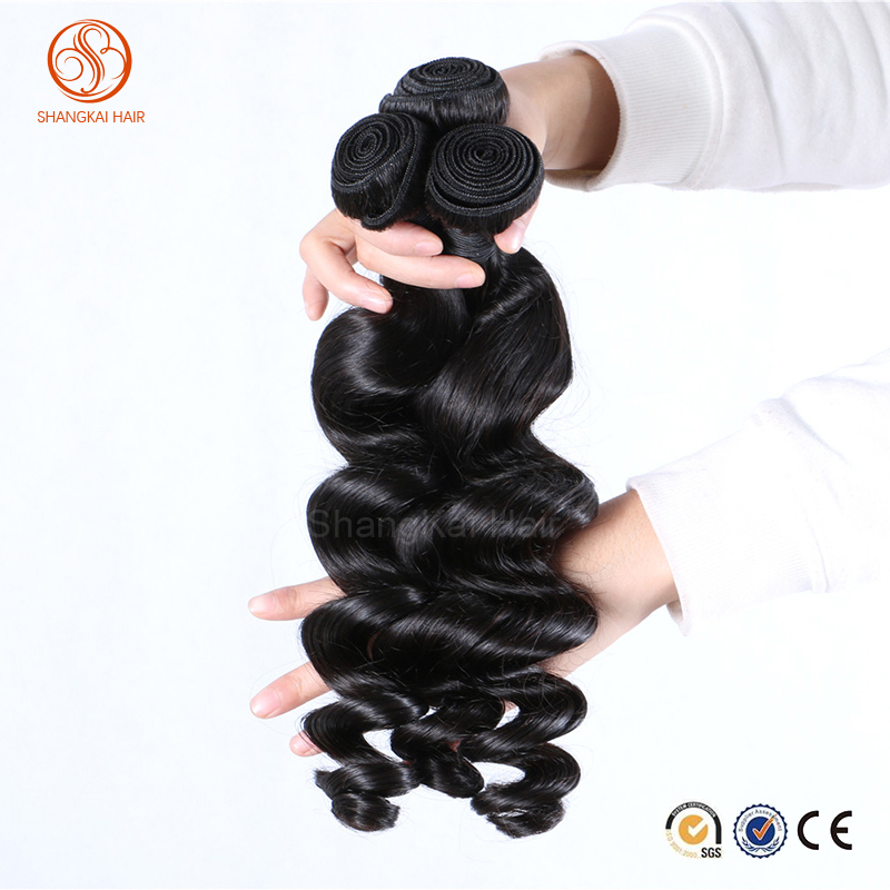 Loose Wave Human Hair Weft/Weaving Top Grade