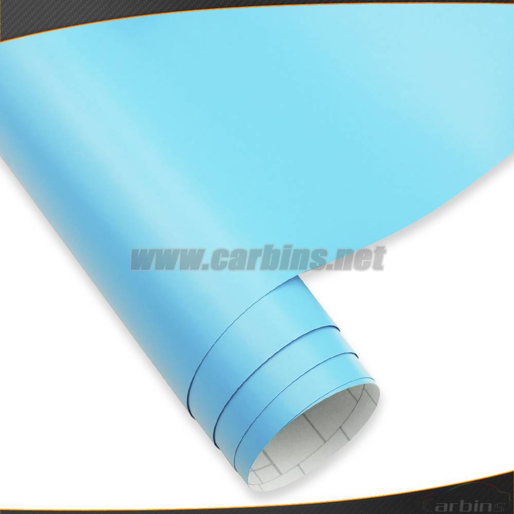 1.52*30m Matt Sky Blue Color Changing Car Wrapping Vinyl Sticker Air Bubble Free