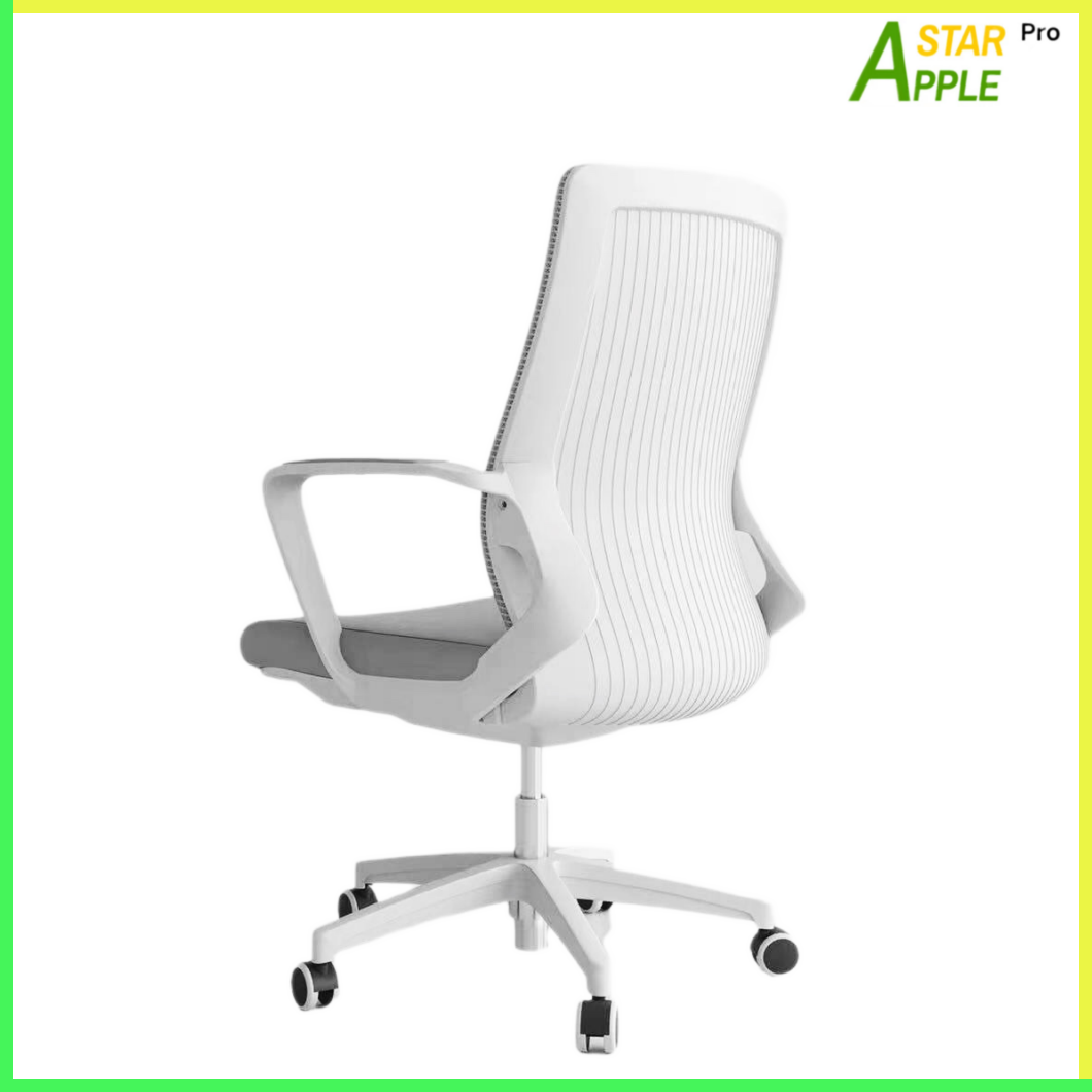 AS-B2122WH Mesh Chair White Nylon Fabric on Armrest Soft Great for Study & Work in Commercial Place