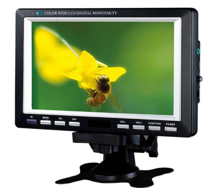 7 inch portable tv lcd built in dvb t2 and FM function