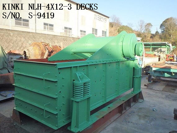 """KINKI"" NLH-412 (4' X 12') 3 DECKS HORIZONTAL TYPE VIBRATING SCREEN S/NO. S-9419"