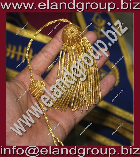Doctoral Gown Bullion tam Tassels