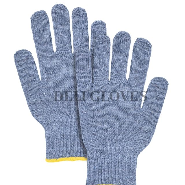 Charcoal Cotton Safety Gloves