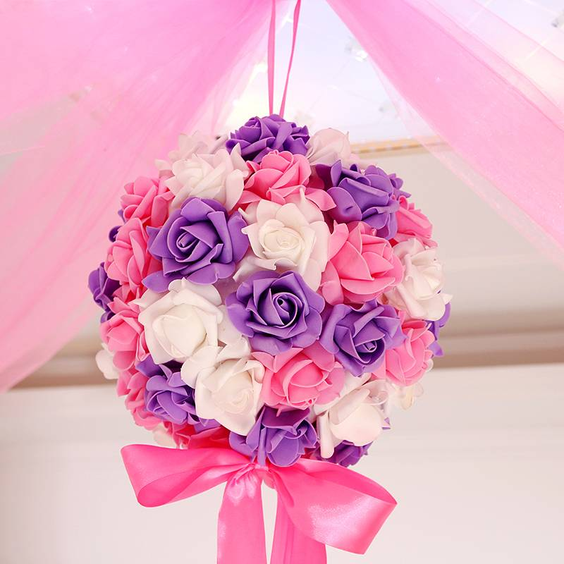 Hanging flower decorations wedding 28 cm ball