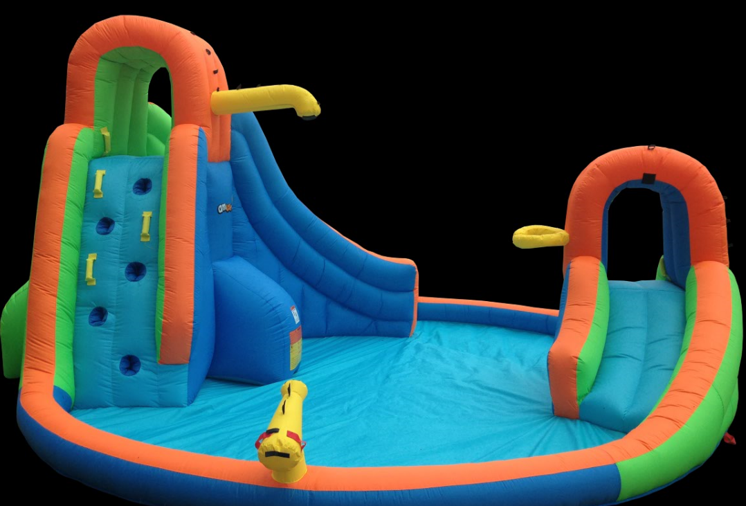 Inflatable toy with Double slide