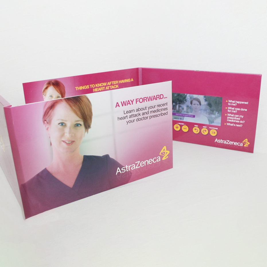 Advertising Promotion LCD Video Brochure Card 4.3 inch Screen in Book Digital Catalog