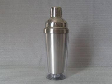 Cocktail Shaker with stainless steel inner and plastic outer