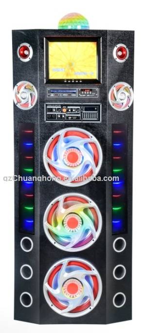Professional audio system active bass subwoofer 12inch  bluetooth speaker USB input/LCD display