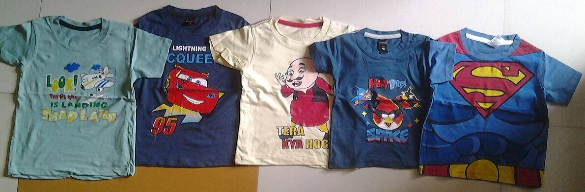 Children Boys Printed Readystock T-Shirts @$1