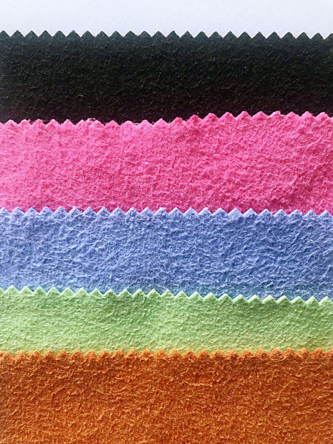 wide use colorful microfiber non-woven wiping cloth