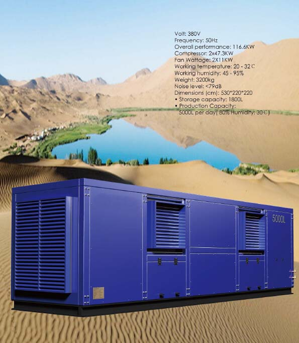 Air Water Generator / Atmospheric Water Generator 5000L/Day
