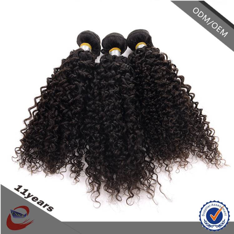 Wholesale Virgin Brazilian Jerry Curl Hair Weave , Cheap Real Human Hair for Sale China