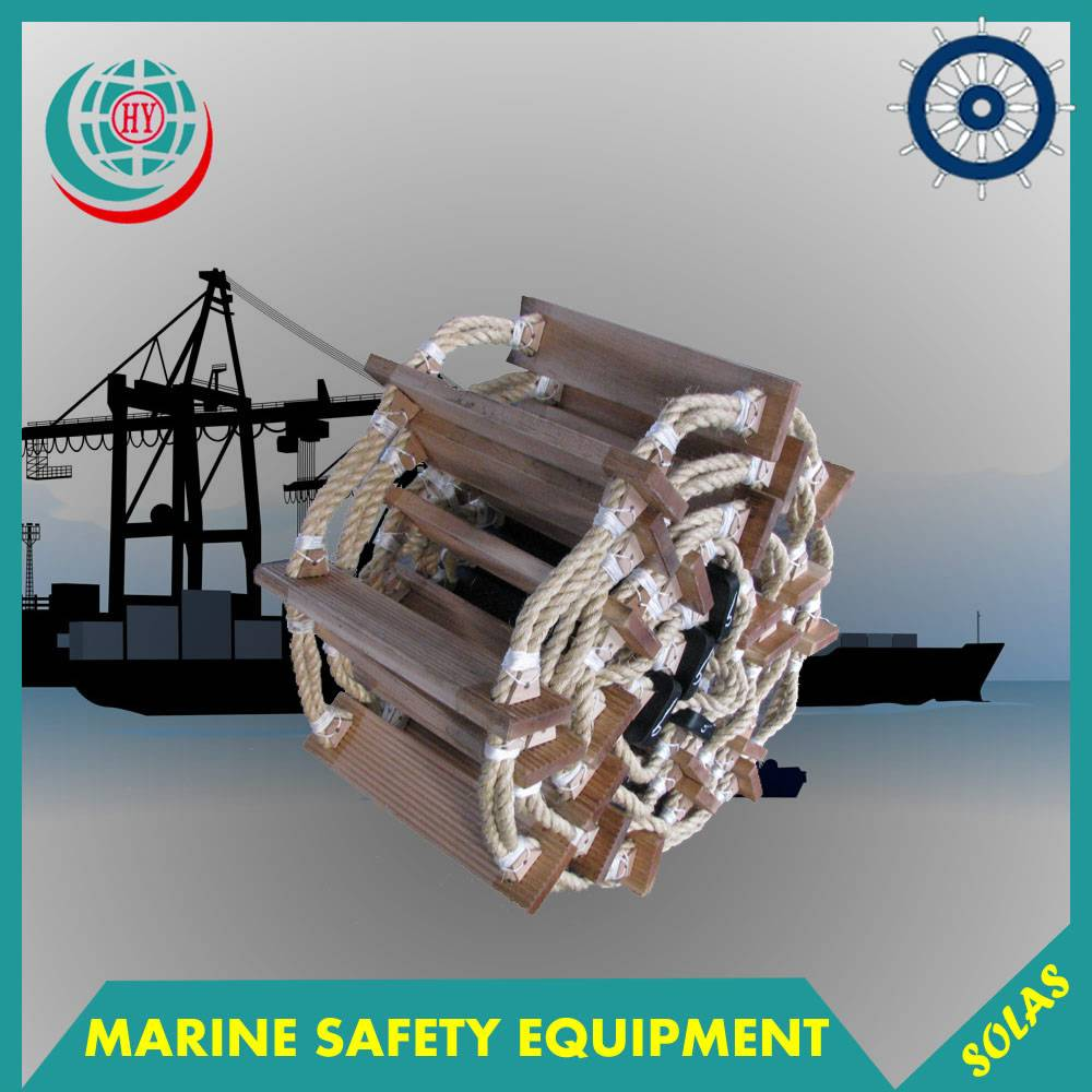 9m wooden marine ladder for ships