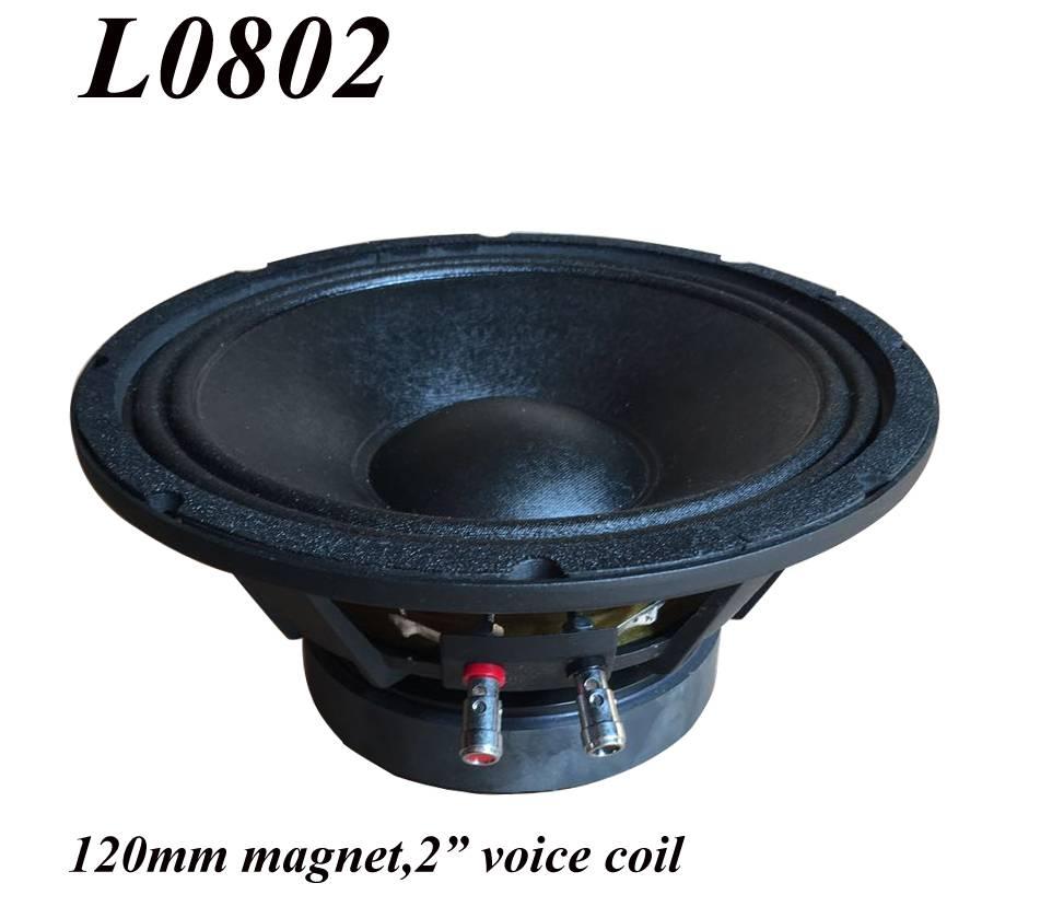 L0802-Professional Sound 8 Inch PA Loudspeaker Parlante