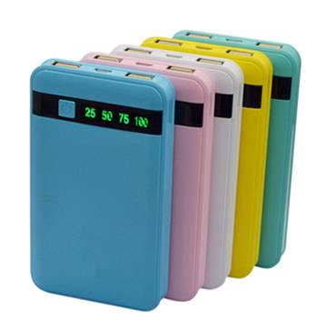 SJ-P80L 8000mAh textured indicator dual USB high quality large portable power bank