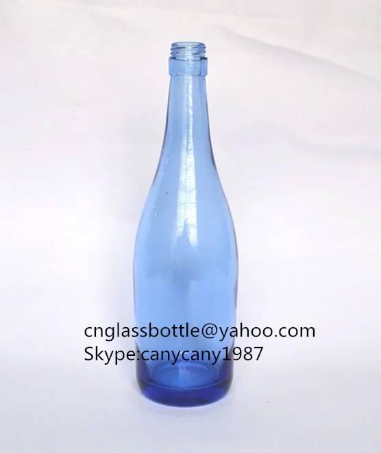 475ml blue glass wine bottles