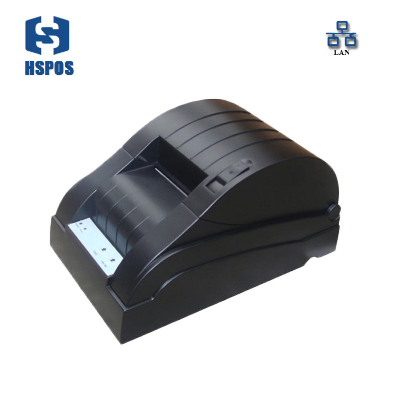 Hot sale 58mm thermal receipt printer with lan support wired printing