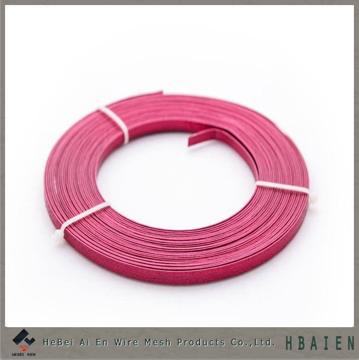 flat colored aluminum wire