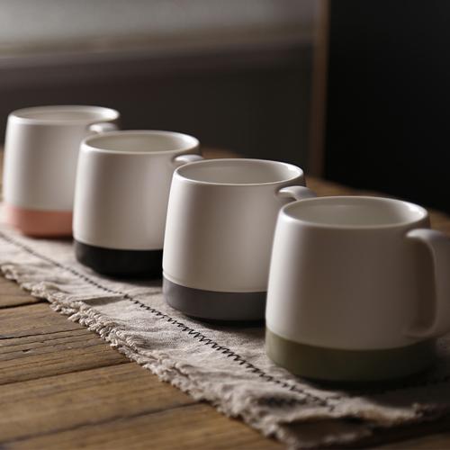 Dull polish porcelain mug