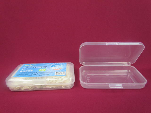 Factory Exquisite PP floss pick storage travel case box