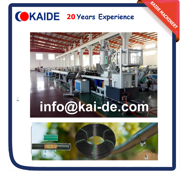 Inline cylinder drip irrigation pipe production line