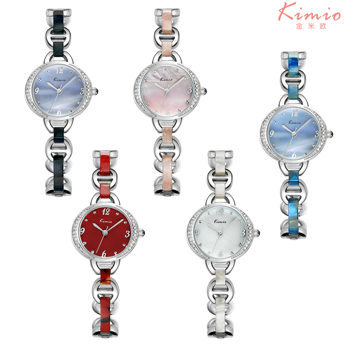 2017 fashion womens brief alloy-shell watches waterproof womens brand watches