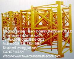 Q345B Steel F0/23B Tower Crane Mast Section , Tower Crane Sections