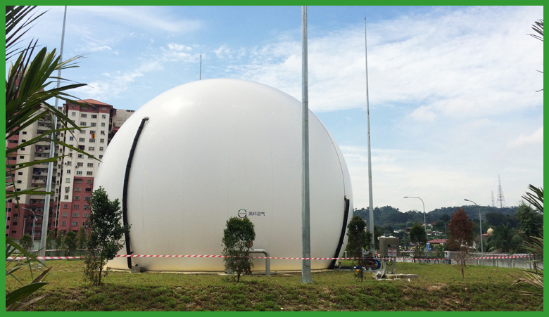 Double Membrane Gas Holder