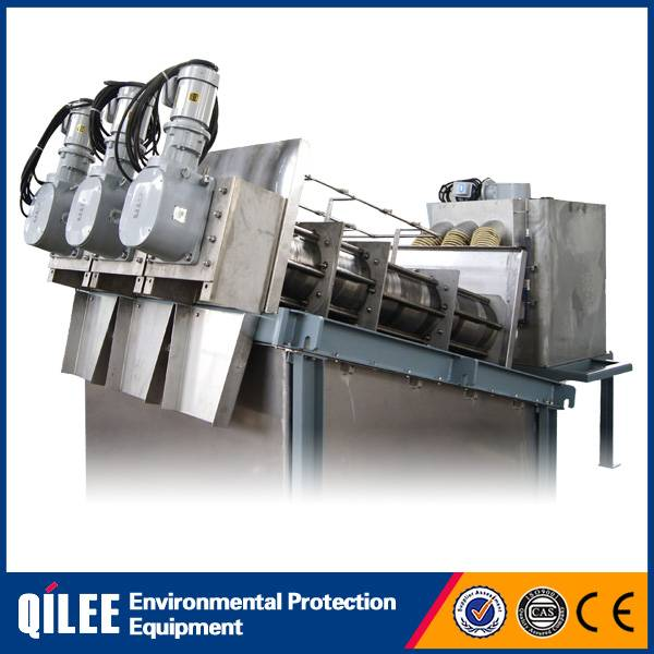 Automatic stainless steel sludge dewatering machine