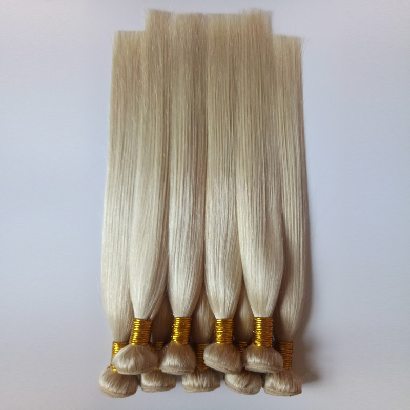 Blond Human hair Remy hair Straight 613# Europe and America hair extensions