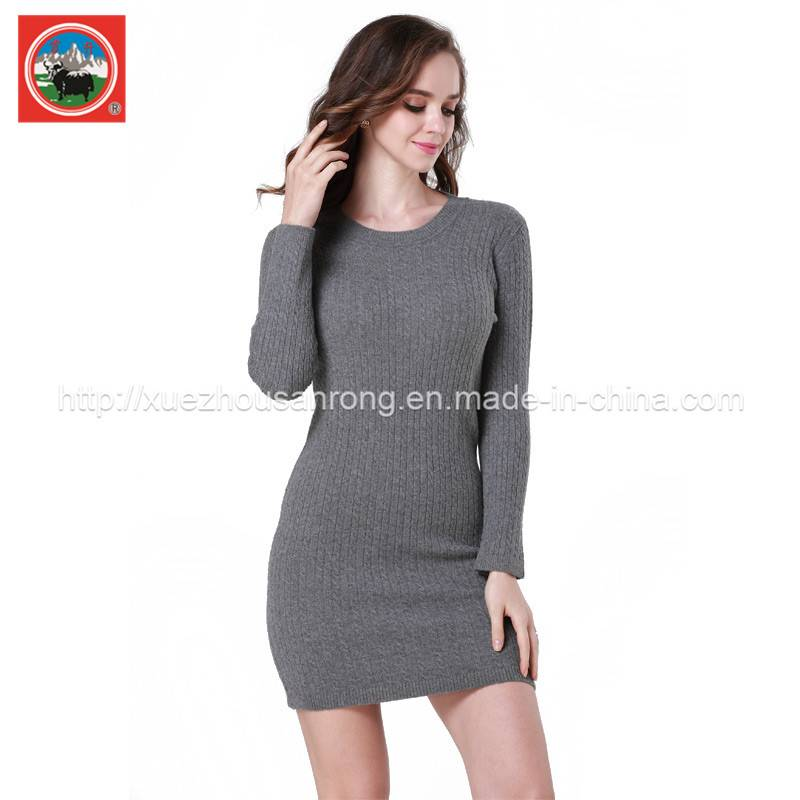 Ladies' knitted pullover/cardigan yak wool /cashmere sweater