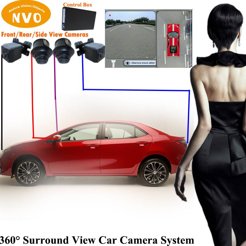 Hot Sale Wholesale Promotional Discount New 360 Degree Around View Car Reversing Aid System With DVR