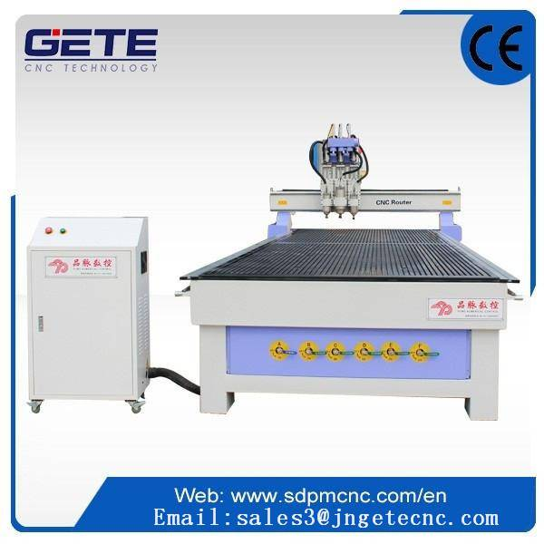 Two-head processing wood cnc router