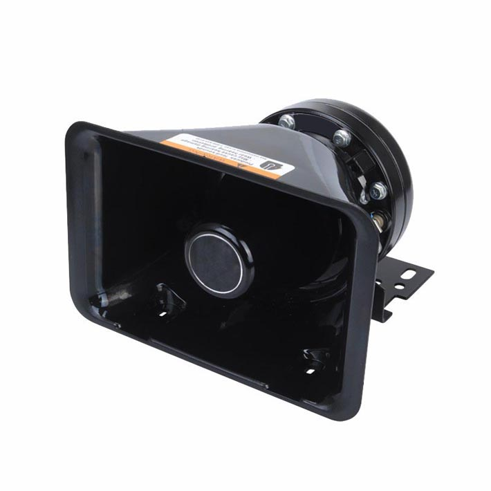 100W External Magnetic Square Mouth Speaker for Siren 12V DC 8 Ohms