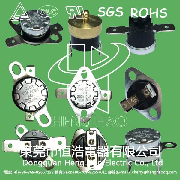 KSD301 auto reset thermostat, KSD301 auto reset thermal protector