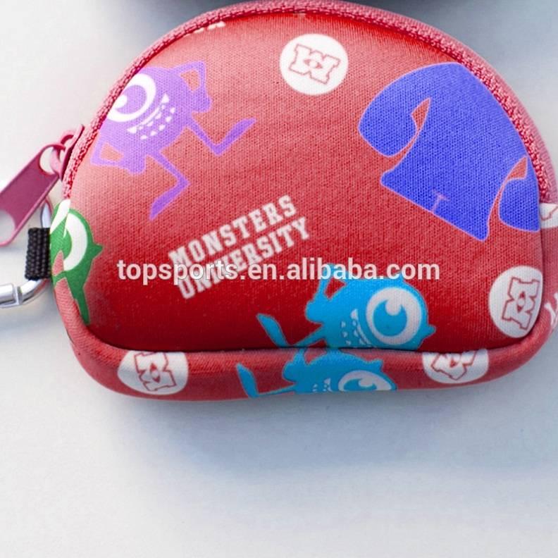 Elastic and durable cute girls neoprene purse bag,wallet bag