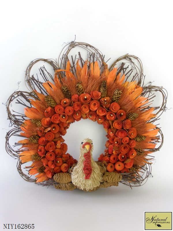 Orange Wood Curl And Rattan Turkey