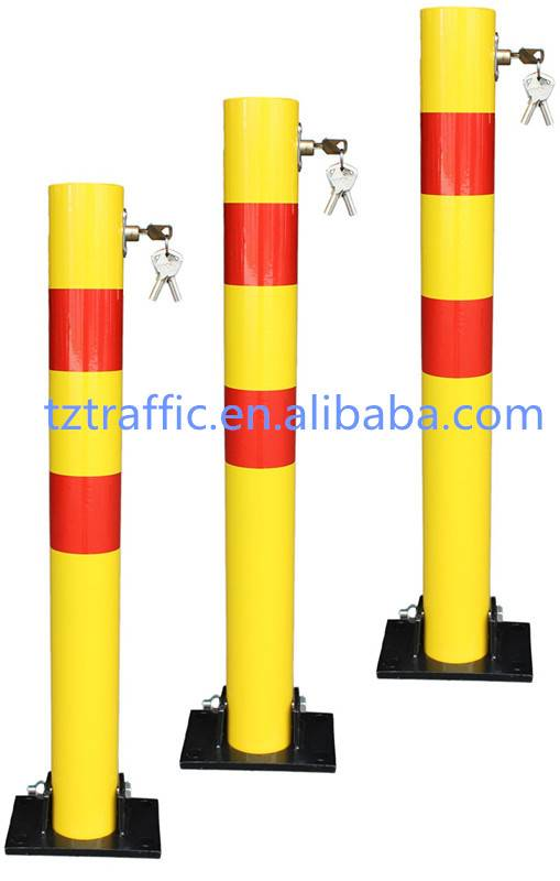 Round Car parking bollards, manual parking bollards, Removable parking bollards