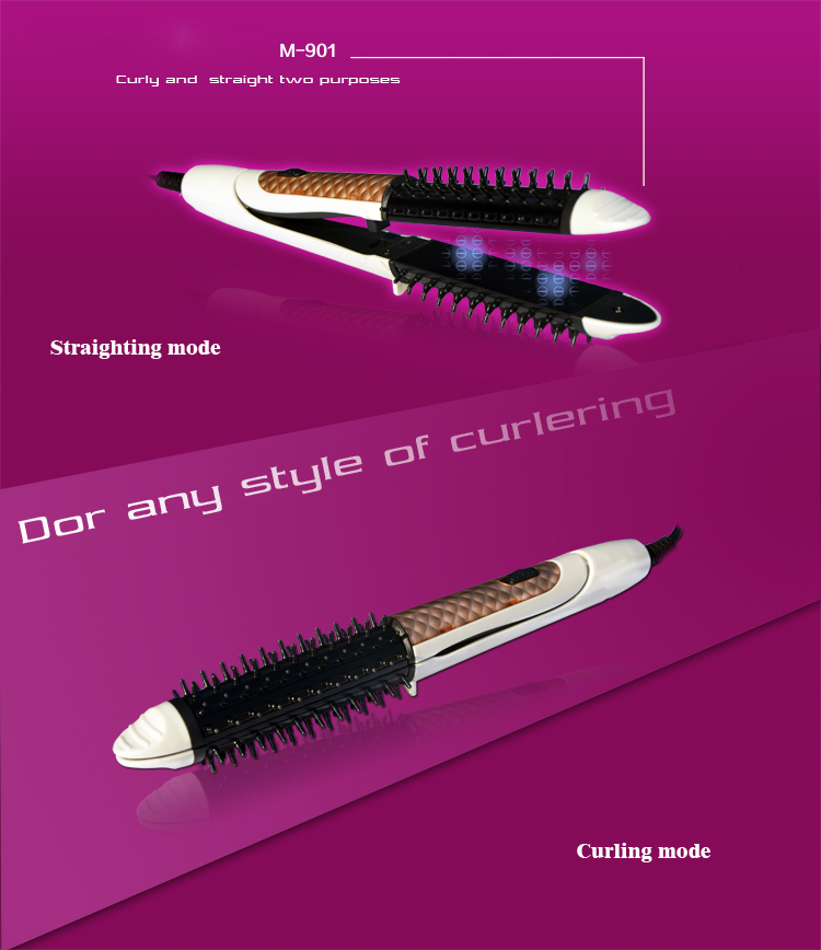 2 in 1 Top Quality New Design Hot Selling Hair Straightener and hair curler