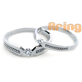 Wholesale 18k Gold Jewelry Diamonds Wedding Rings 18k White gold