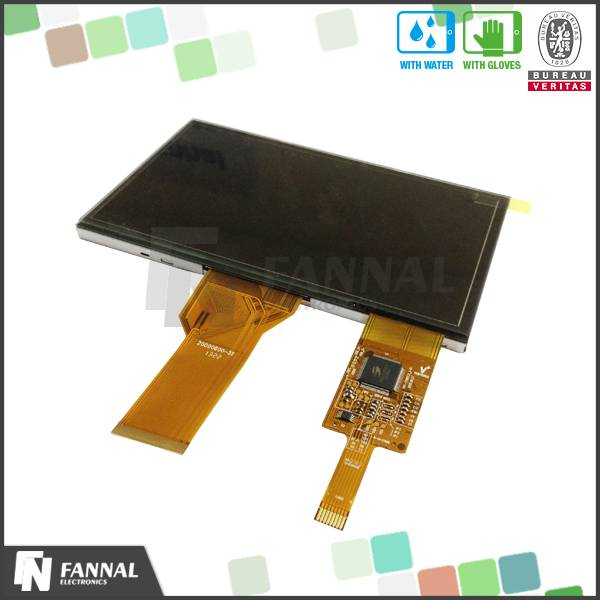 2014 wholesale well touch 7.0 inch projected capacitive touch screen