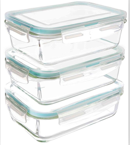 oven safe pyrex glass food container