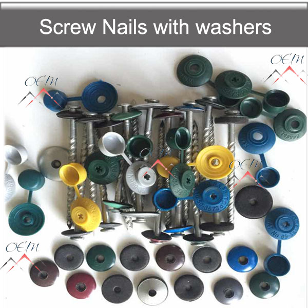 Roofing nails screw nails