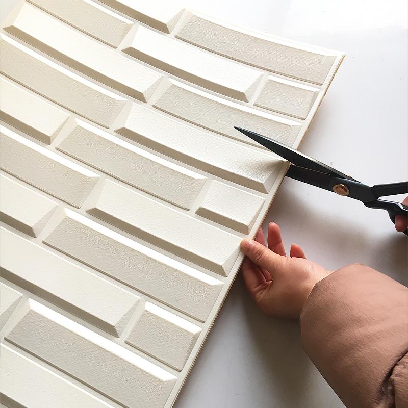 Korean style PE foam 3d wallpapers, DIY brick wall paper