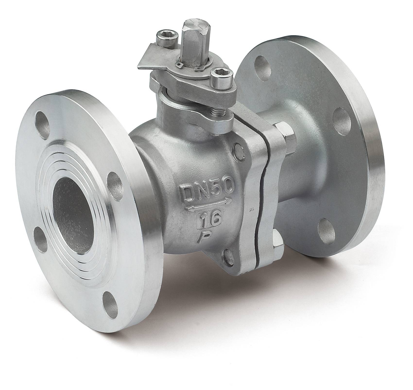 2 Piece Stainless Steel Flanged Ball Valve with Mounting Pad