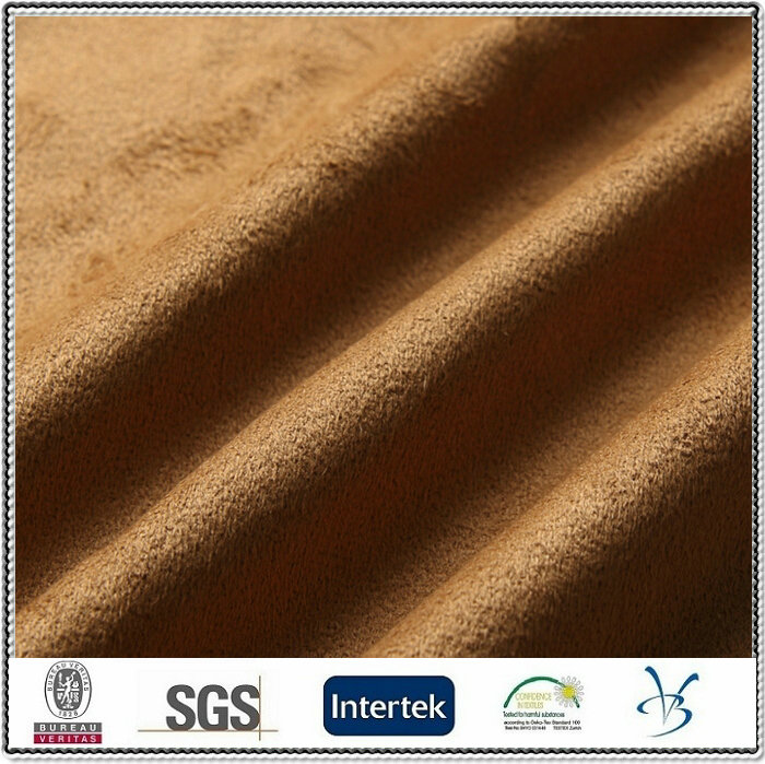 polyester warp knitting ultra micro suede fabric for sofa car shoe garment