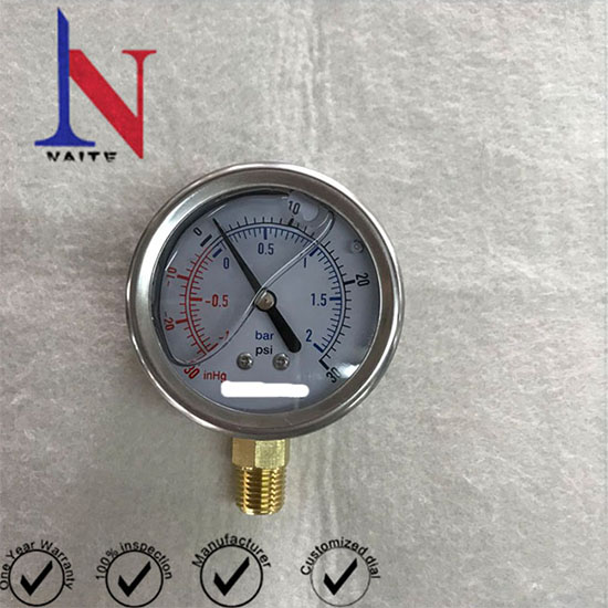 63mm Stainless Steel Compound Pressure Gauge