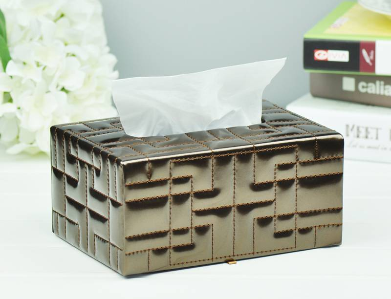 Faux Leather Tissue Box Manufacture Supply Home Accessories