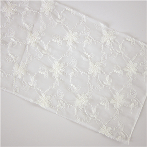 High quality fashion swiss mesh embroidery cord guipure lace fabric